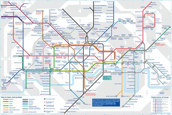 Harta metrou Londra